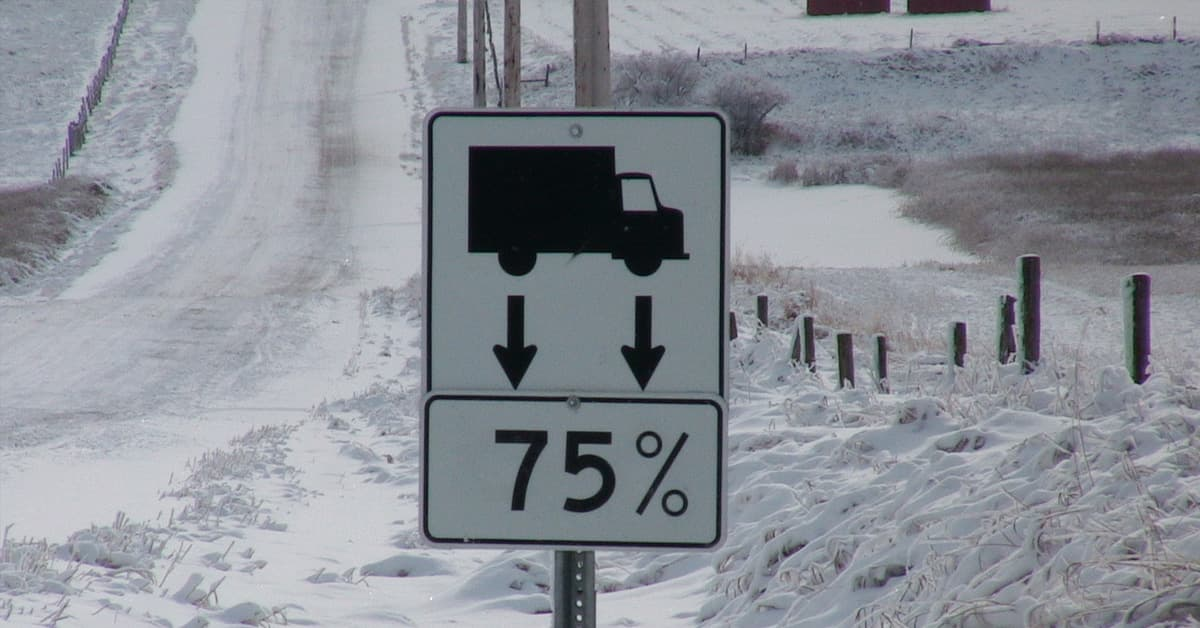 A 75% weight restriction applies to all chip seal coat roads. Please drive accordingly.